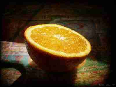 half an orange - how to be more creative